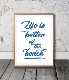 CUADRO LIFE IS BETTER AT THE BEACH - comprar online