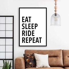 CUADRO EAT SLEEP RIDE