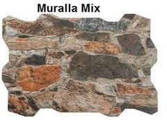 Revestimiento Simil Piedra Ceramica Muralla Mix , Pared