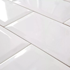 Ceramica Blanco Brillante Biselado 10x20 Subway New York