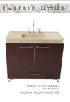 Vanitory  Elysee 93x43x75 Con Bacha Piedra Travertino Moon Mueble Baño