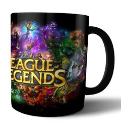 Caneca de Porcelana preta League of Legends LOL - comprar online