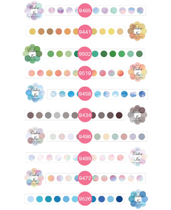 Washi Color DOTS Color In x 100 stickers - Casa Washi