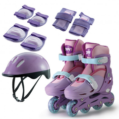 KIT PATINS IN LINE AJUST 30 A 33 - ROSA - ZIPPY TOYS