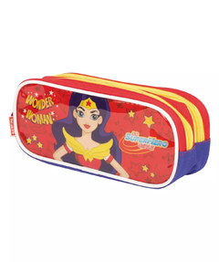 ESTOJO- 02 COMPARTIMENTOS - SUPER HERO GIRLS - 22CM - WONDERWOMAN - SESTINI na internet