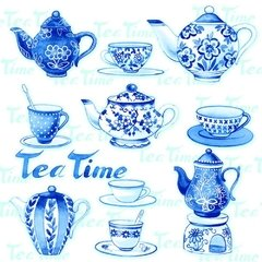 GUARDANAPO PARA DECOUPAGE TEA MOMENTS BLUE | PAPER + DESIGN - comprar online