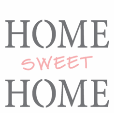 STENCIL 14X14 FRASE HOME SWEET HOME OPA 2337 | OPA - comprar online