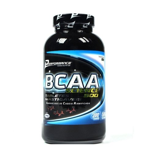BCAA SCIENCE 500 MASTIGÁVEL 200 TABS. SABOR FRUTAS VERMELHAS - PERFORMANCE
