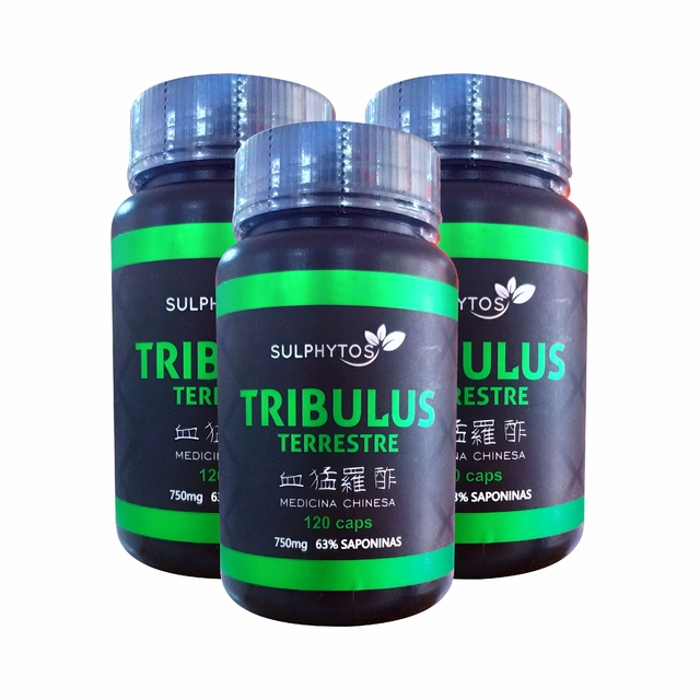 COMBO KIT 3UN. TRIBULLUS 750mg 120 CAPS - SULPHYTOS