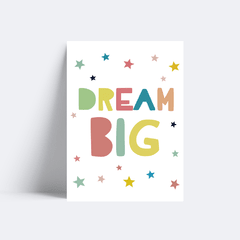 Quadro Poster Dream Big - Colorful - loja online