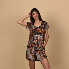 Remera India Animal print - tienda online