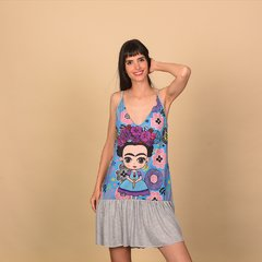 VESTIDO DELRAY GRIS FRIDA 2 on internet