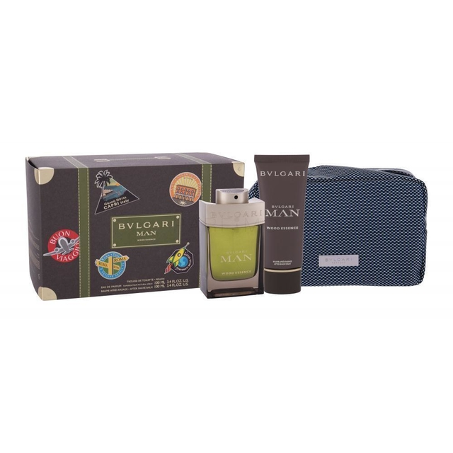 SET BVLGARI MAN WOOD ESSENCE EDP 100 ML + AFTER SHAVE + TROUSSE - comprar online