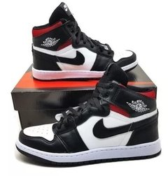 "Tênis Nike Air Jordan 1 Chicago ""White Black Red"" (Masculino)"