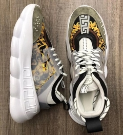 Tênis Versace Chain Reaction White Dinasty (Masculino) na internet