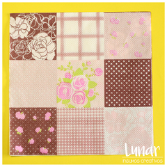 Servilleta para decoupage - mod. Patch romantico