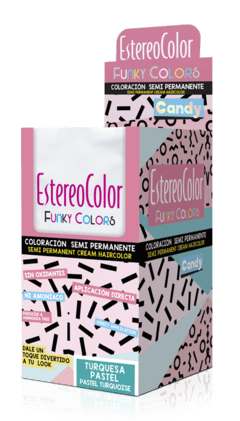 COLORACIÓN FUNKY COLORS CANDY PASTELES x 12u