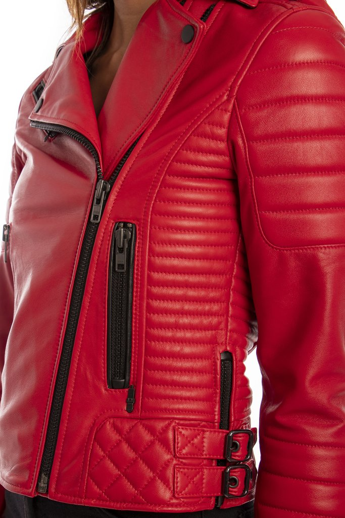 Chaqueta Lady Rider Red