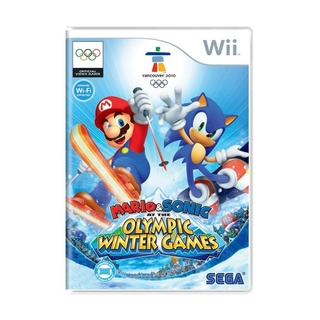 Mario e Sonic at the Olympic Winter Games (sem capinha) - Wii