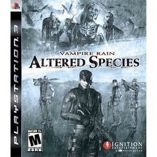 Vampire Rain Altered Species - Ps3