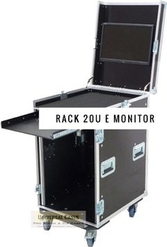Flight Case Rack 20u + Tampa Para Monitor