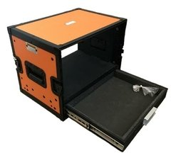 Flight Case Rack 6u + Gaveta Laranja Black