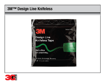 3M(TM) Design Line Knifeless