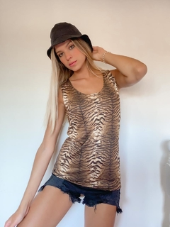 Musculosa Animal SATINADA - Vintage