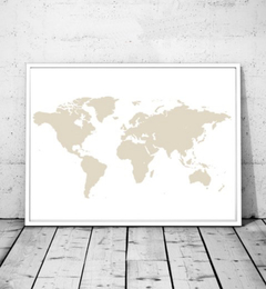 CUADRO WORLD MAP NUDE