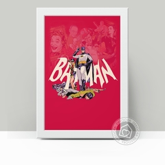 Quadro Decorativo Batman Retrô