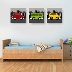 Carrinhos Colors - Placas decorativas
