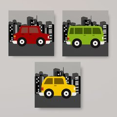 Carrinhos Colors - Placas decorativas - comprar online