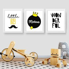 Little Boy - Kit Quadros Personalizado