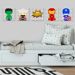 Vingadores #5- Placas decorativas