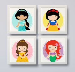 quadros decorativos princesas disney cute