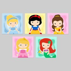 Princesas Disney Cute#5- Placas decorativas - comprar online