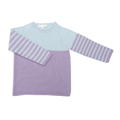 Sweater Ray lila/celeste