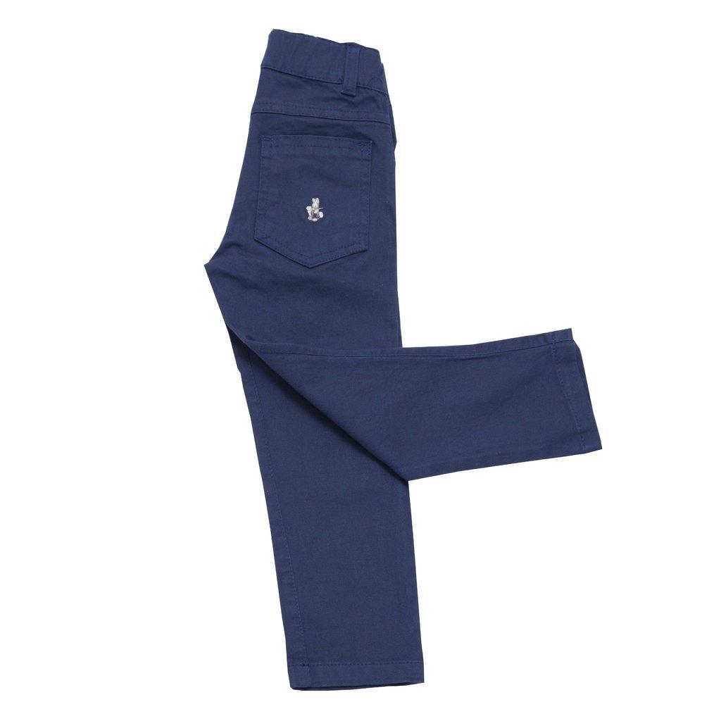 Pantalon Clasico Gabardina Azul