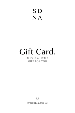 Gift Card Online $ 2.000 - $ 10.000 - Sidonia