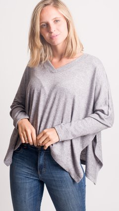 Sweater peru cuello V angora