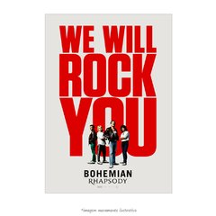 Poster Bohemian Rhapsody - We will rock you - QueroPosters.com