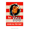 Poster Are You Doing All You Can - 20x30cm
