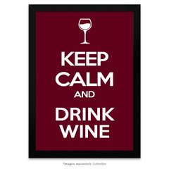 Poster Keep calm and Drink Wine
