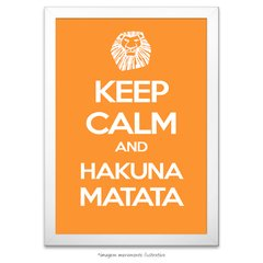 Poster Keep Calm and Hakuna Matata - comprar online