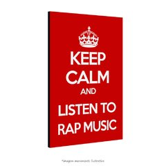 Poster Keep Calm and listen to RAP Music na internet