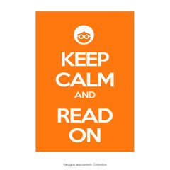 Poster Keep Calm and Read On - QueroPosters.com