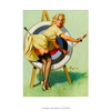 Poster Pin-up Girl: Right On Target - 20x30cm