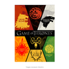 Poster Game Of Thrones - Houses - 20x30cm