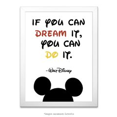 Poster If you can dream it. You can do it. - Walt Disney na internet