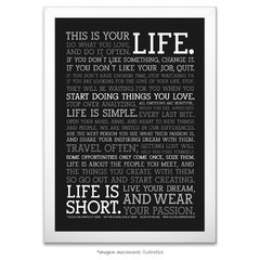 Poster Manifesto - This is your Life - vs Preto na internet